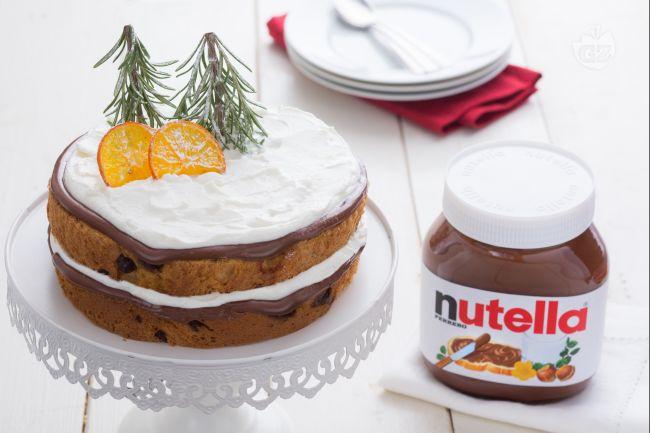 Torta di panettone con Nutella