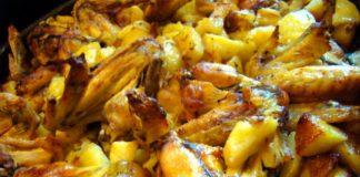 Ali di pollo con patate