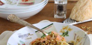 linguine al pesto di pistacchi e salmone