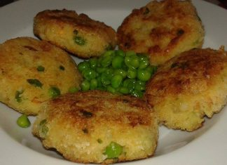 Hamburger patate e piselli